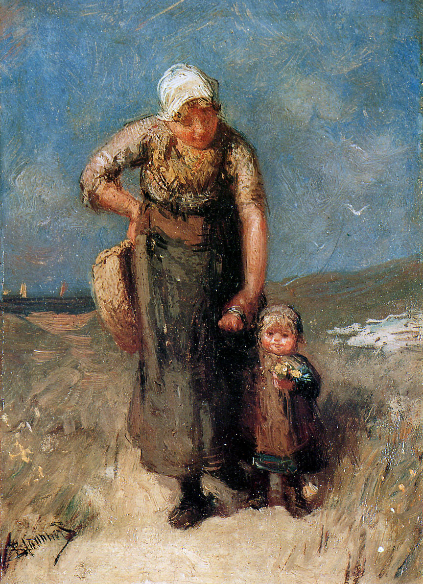 Bernardus Blommers. Mother and child