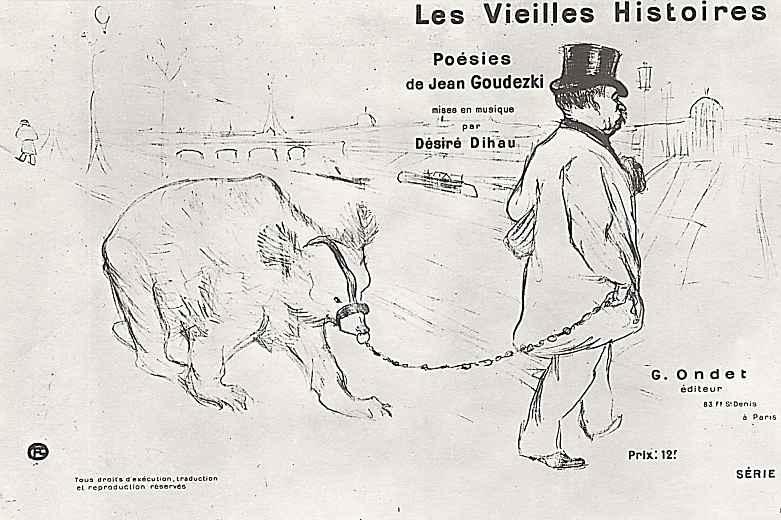 Анри де Тулуз-Лотрек. Плакат-реклама стихотворений Жана Гудецкого
