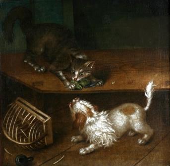 Johann (Ivan Fedorovich) Friedrich Groot. CAT AND DOG