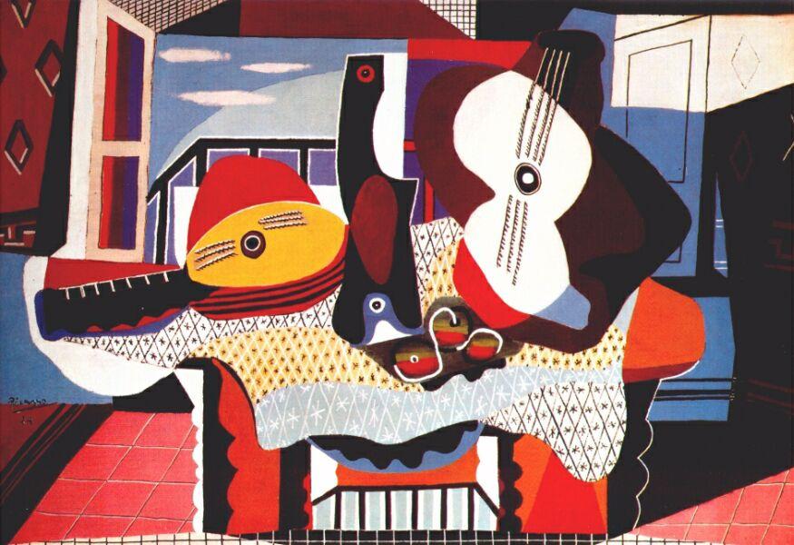 Пабло Пикассо. Мандолина и гитара