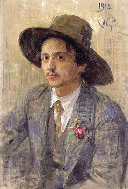 Ilya Efimovich Repin. Portrait of the artist I. I. Brodsky