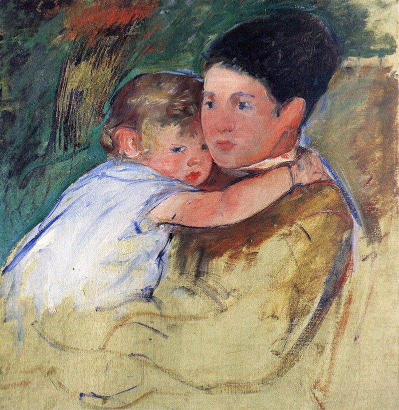 Mary Cassatt. Anne and her nanny. Sketch