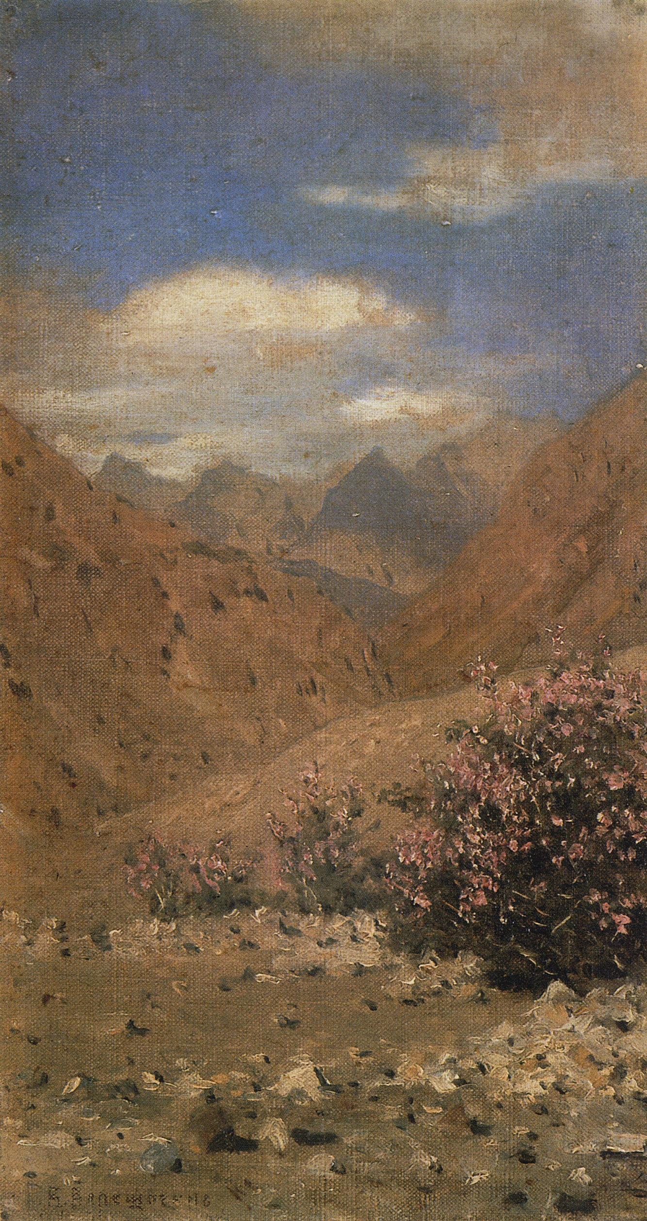 Vasily Vereshchagin. Roses in Ladakh. Etude