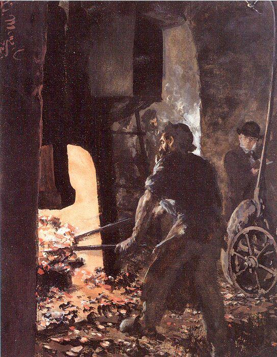 Адольф фон Менцель. Работа