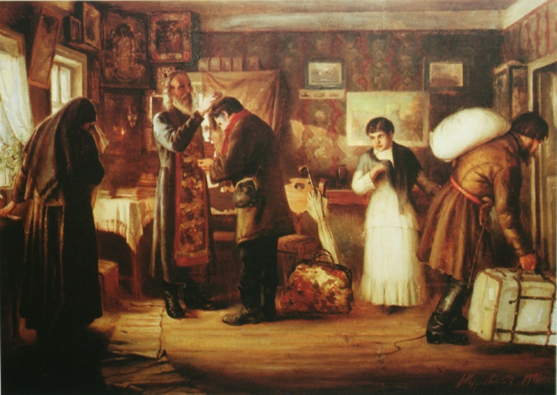 Sergeevich Firs Zhuravlev. Blessing. 1901 Rybinsk Museum-Reserve