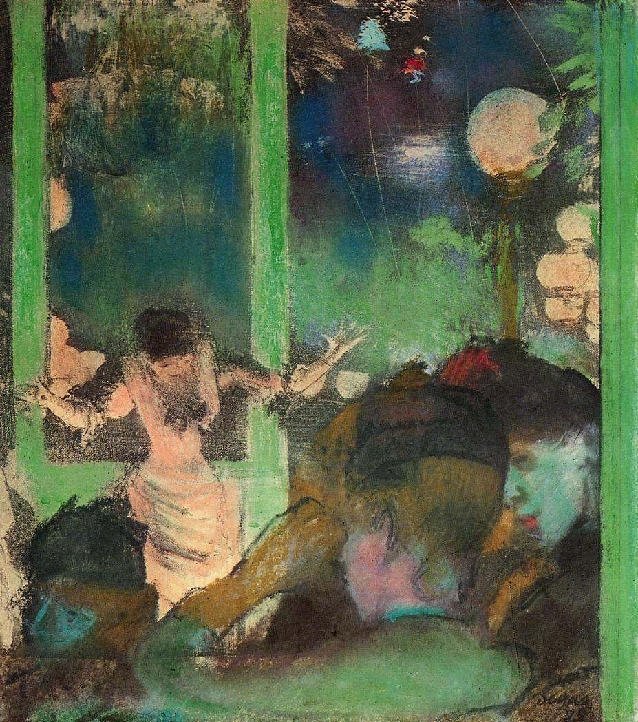 Edgar Degas. At cafe Ambassador
