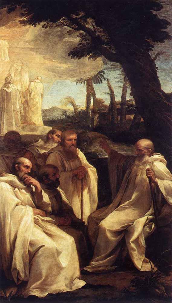 Андреа Сакки. Видение Святого Ромуальда