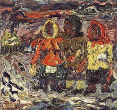 Давид Давидович Бурлюк. Три крестьянки