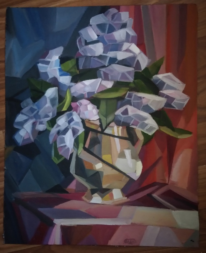 Platonova Alexandra. Crystallism (lilac)