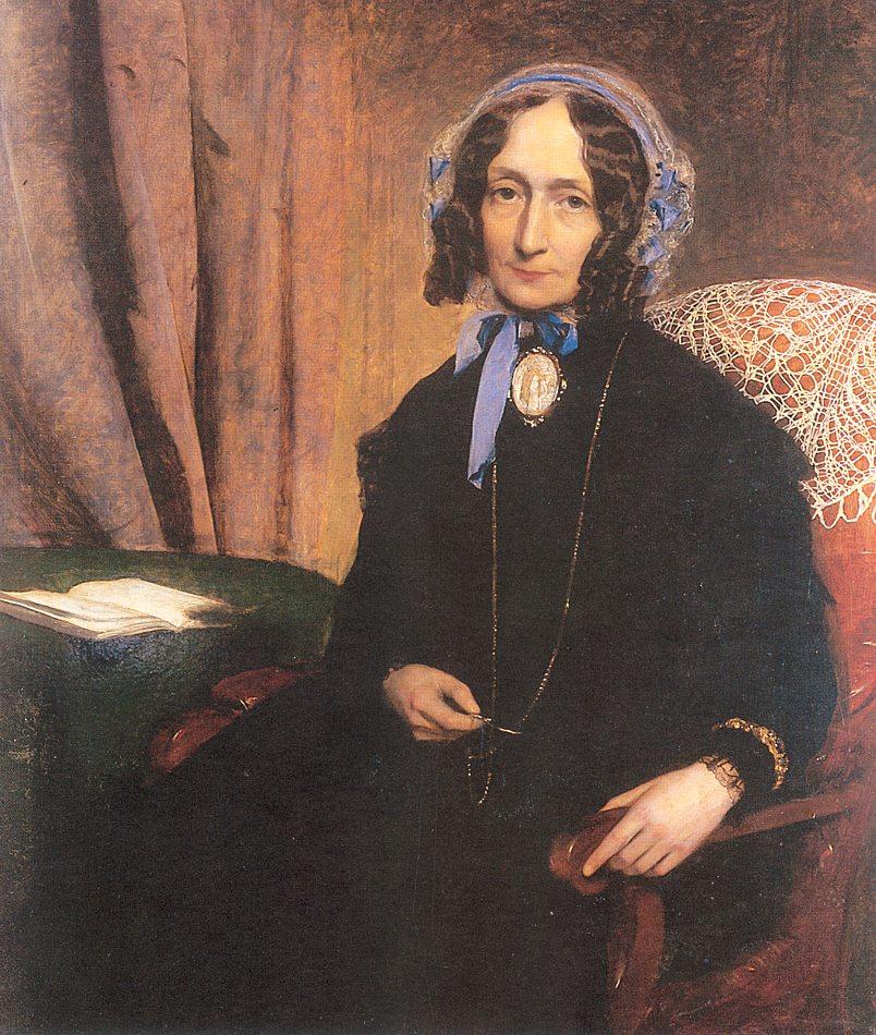 Артур Хьюз. Портрет сидящей пожилой женщины