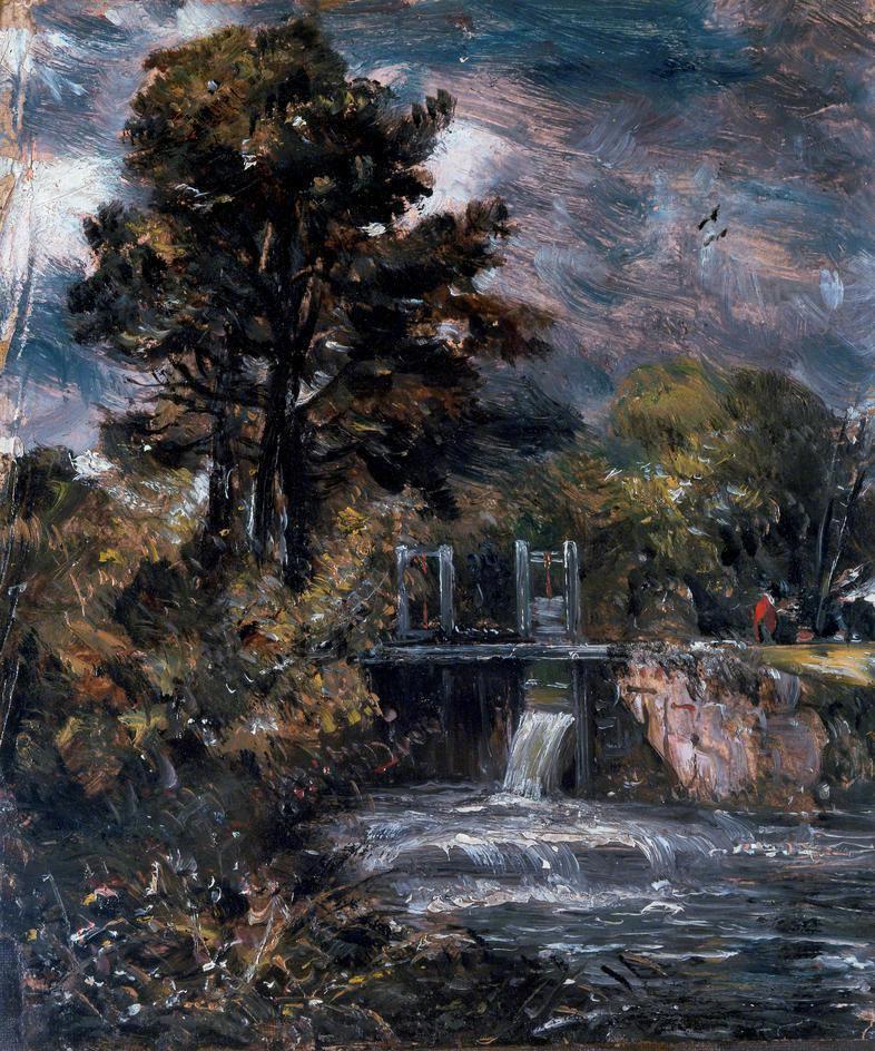 John Constable. The sluice gate on the river Stour