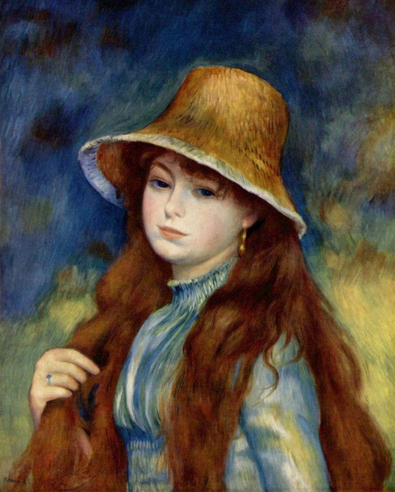 Пьер Огюст Ренуар. Девушка в соломенной шляпе