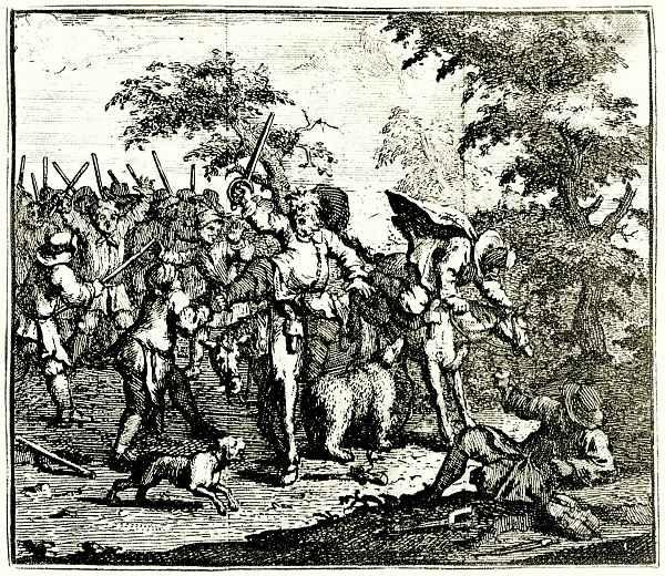 Уильям Хогарт. Гудибрас сражается с Тальготом и Маньяно