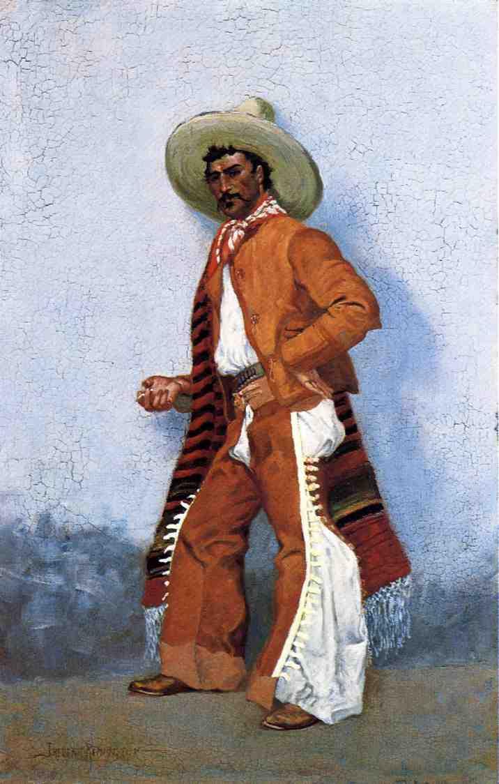 Frederick Remington. Cowboy with a mustache