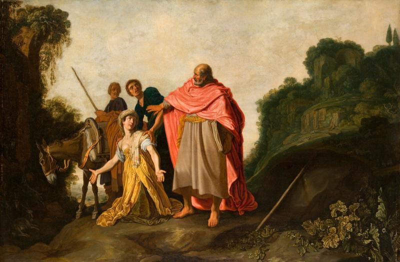 Peter Peters Lastman. The prophet Elisha and the Shunammite woman