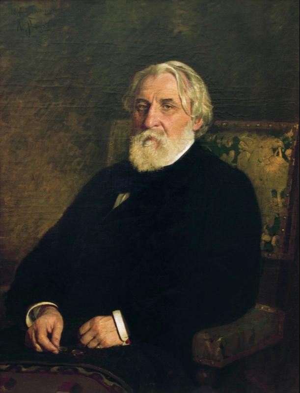 Ilya Efimovich Repin. Portrait of I. S. Turgenev. State Tretyakov Gallery.