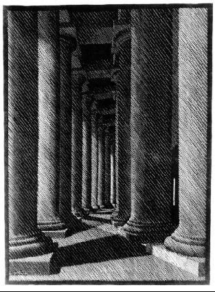 Мауриц Корнелис Эшер. Высокие колонны