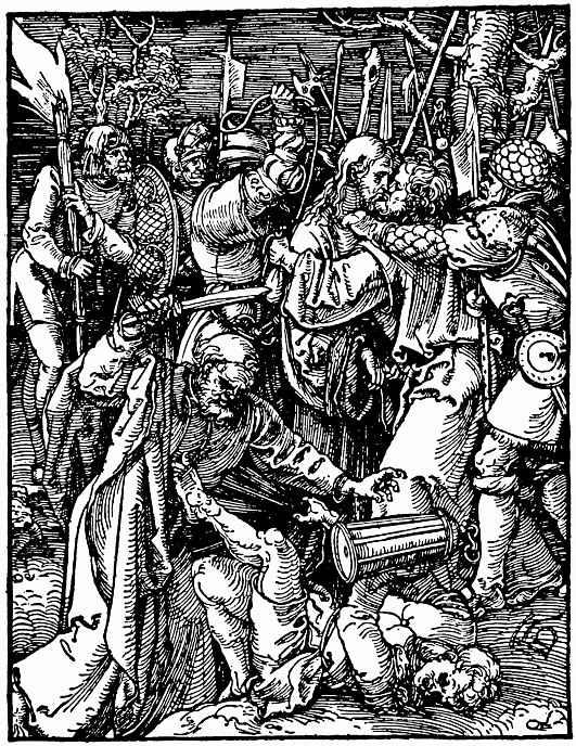Альбрехт Дюрер. Взятие Христа под стражу