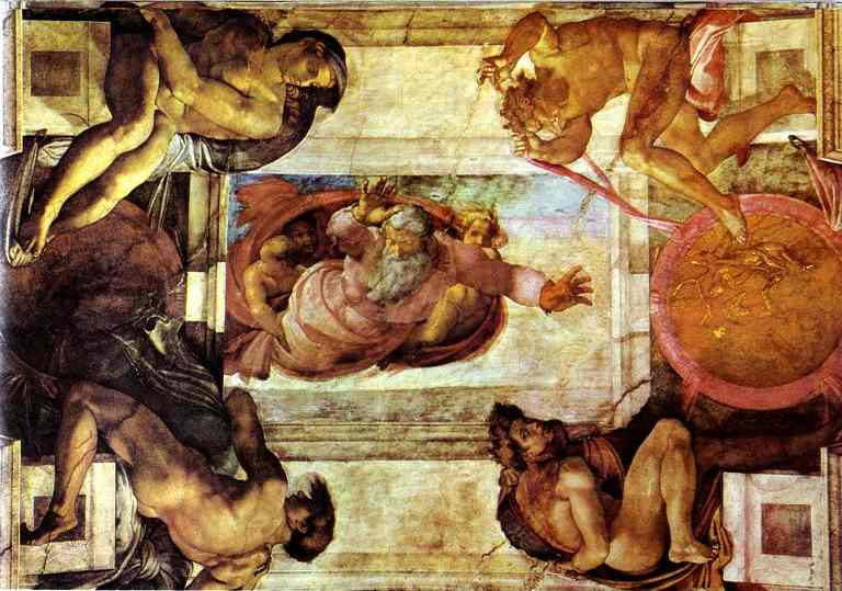 Микеланджело Буонарроти. Отделение суши от вод.