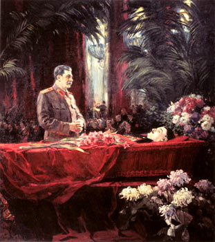 Сталина Портреты. Похороны