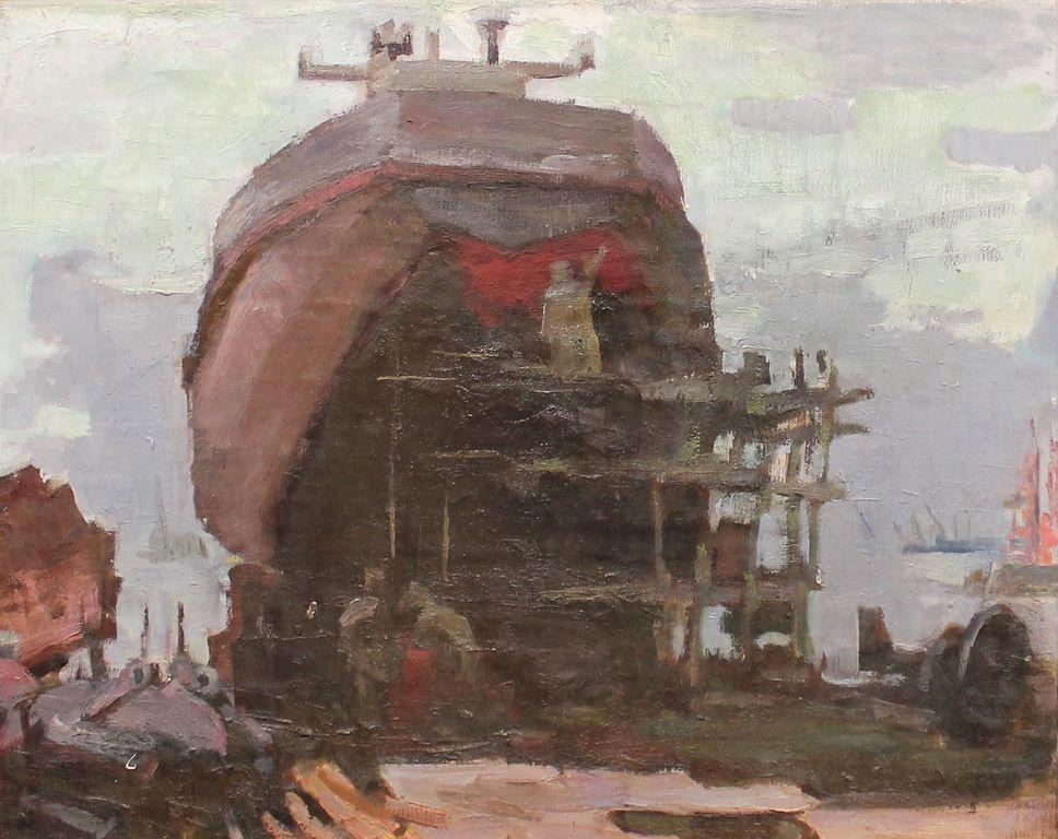 Wolf Benetovich Simberg. Ship painting
