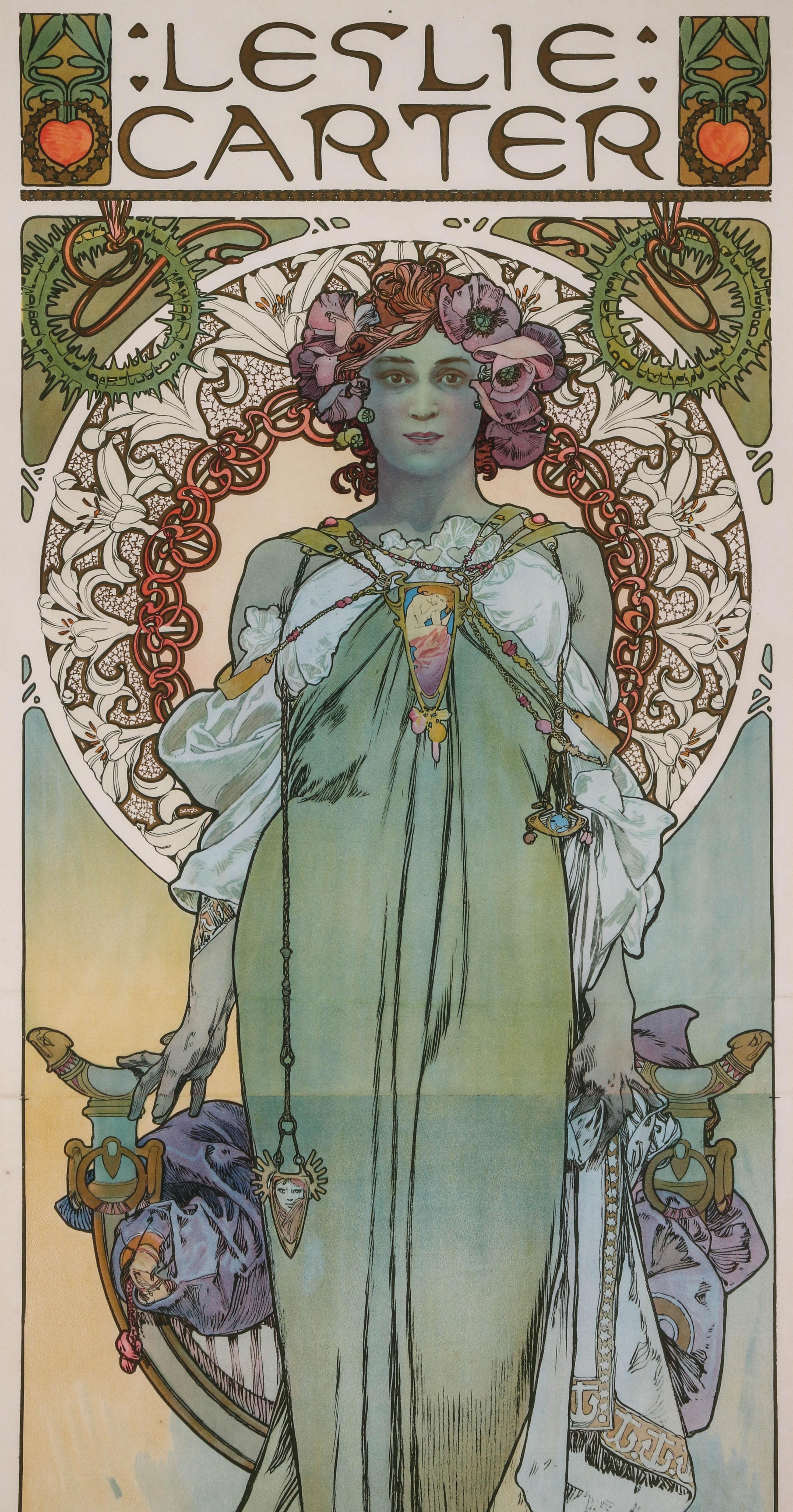 Alphonse Mucha. Poster: Leslie Carter