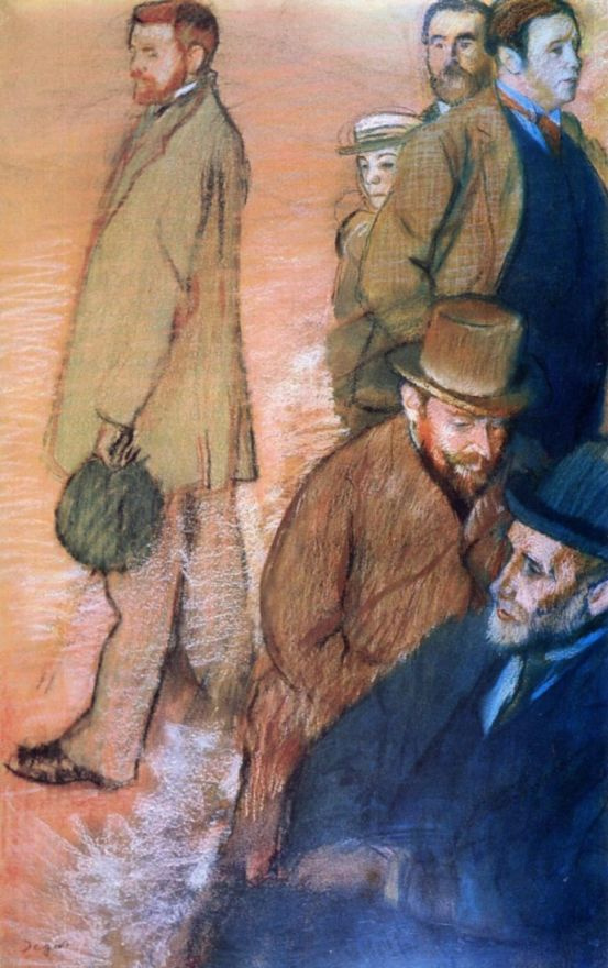 Edgar Degas. Six friends of the artist