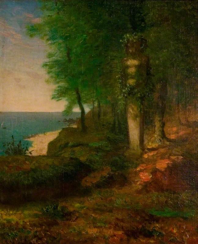 Jean-François Millet. Spring: landscape with a wooden statue