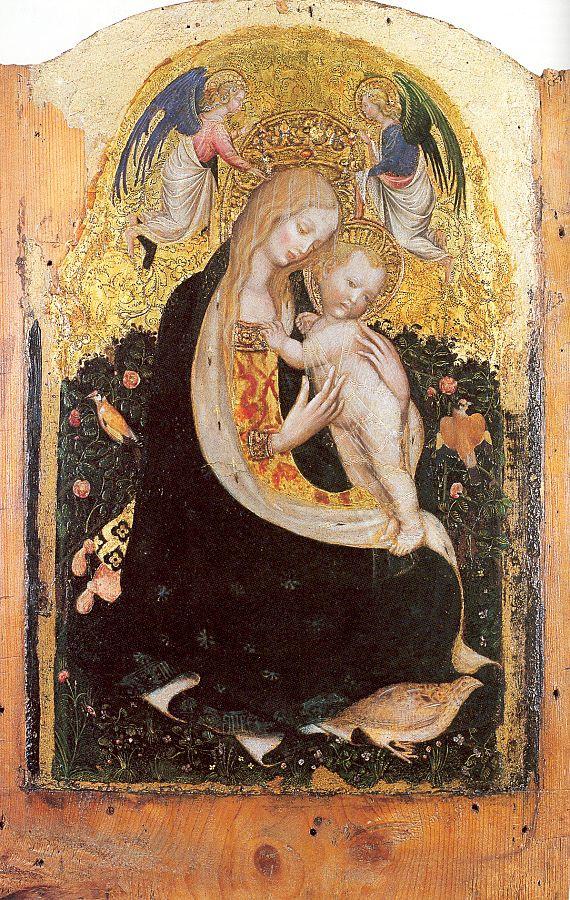 Антонио Пизанелло. Мадонна с младенцем