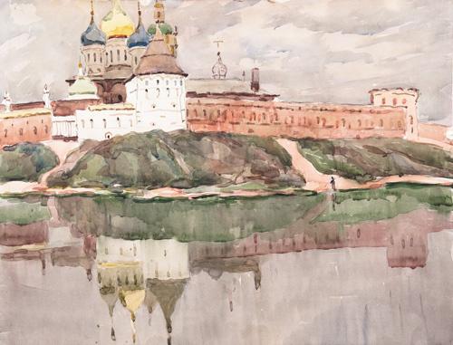 Антонина Алексеевна Ромодановская. РОСТОВ ВЕЛИКИЙ. ОЗЕРО НЕРО. 1960