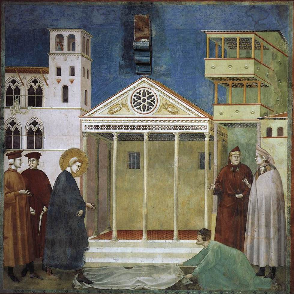 Giotto di Bondone. Magnification of the common man (The Holy One predicts the coming glory to the young Francis). The Legend of St. Francis