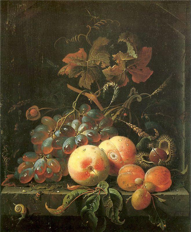 Авраам Миньон. Натюрморт с виноградом