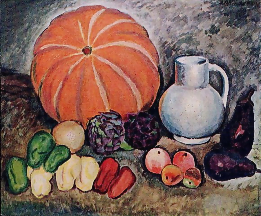 Ilya Ivanovich Mashkov. Still life with vegetables
