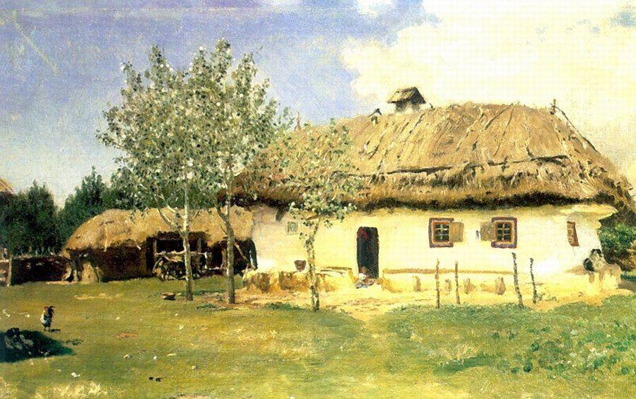 Илья Ефимович Репин. Украинская хата