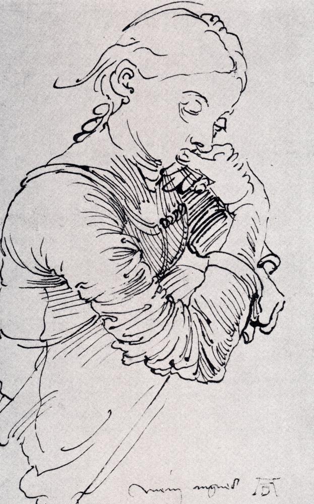 Albrecht Dürer. Portrait of the artist's wife