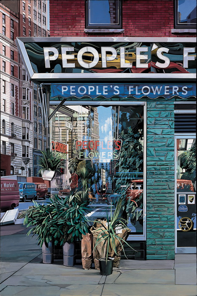 Richard Estes. Flower shop
