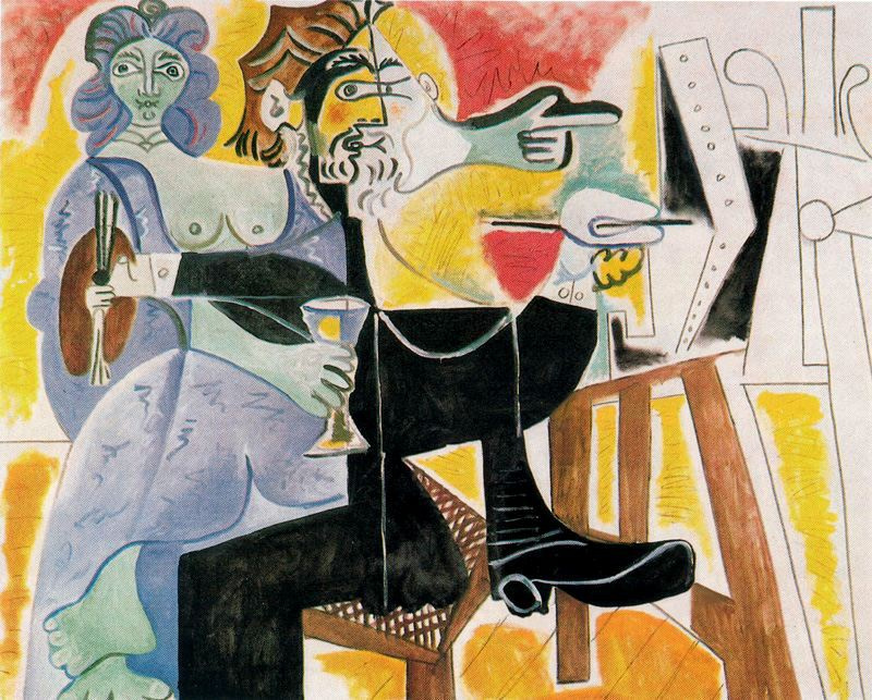 Пабло Пикассо. Рембрандт и Саския