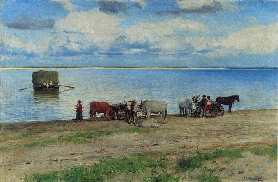 Sergey Ivanovich Svetoslavsky. The crossing of the Dnieper
