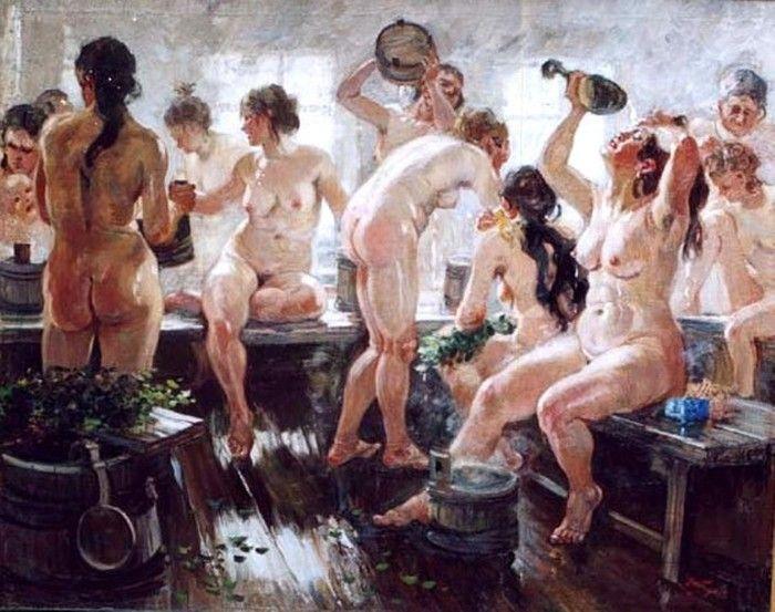 Alexander Mikhailovich Gerasimov (1861-1931). Rustic bath. 1938