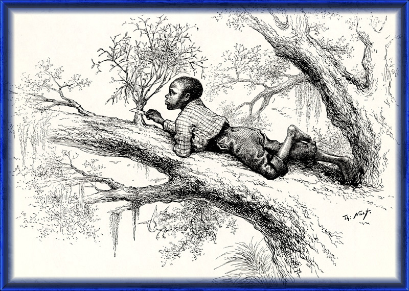 Thomas Nast. 56 Cutting mistletoe in the South