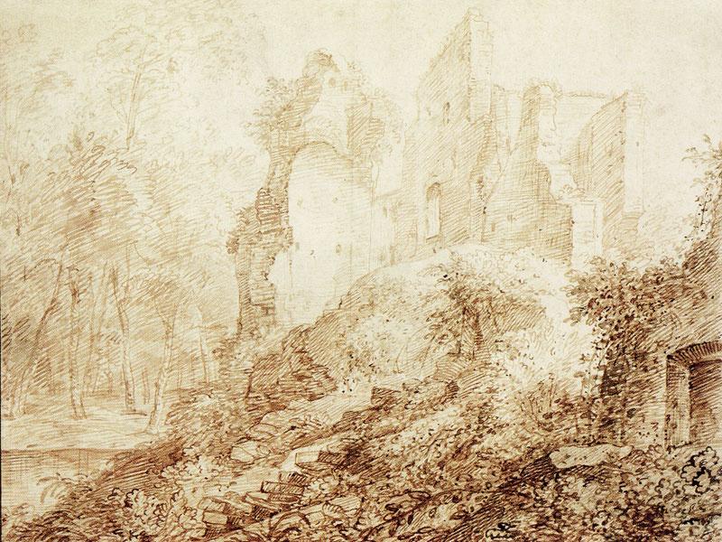 Ян Ливенс. Руины замка в Бредероде