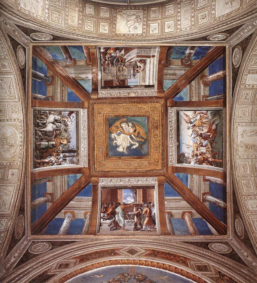 Рафаэль Санти. Сцены из жизни Давида. Роспись потолка лоджии второго этажа дворца понтифика в Ватикане