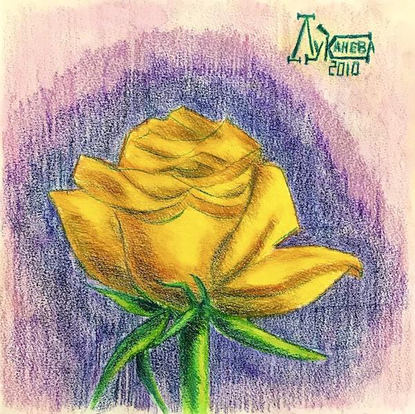 Larissa Lukaneva. Yellow rose