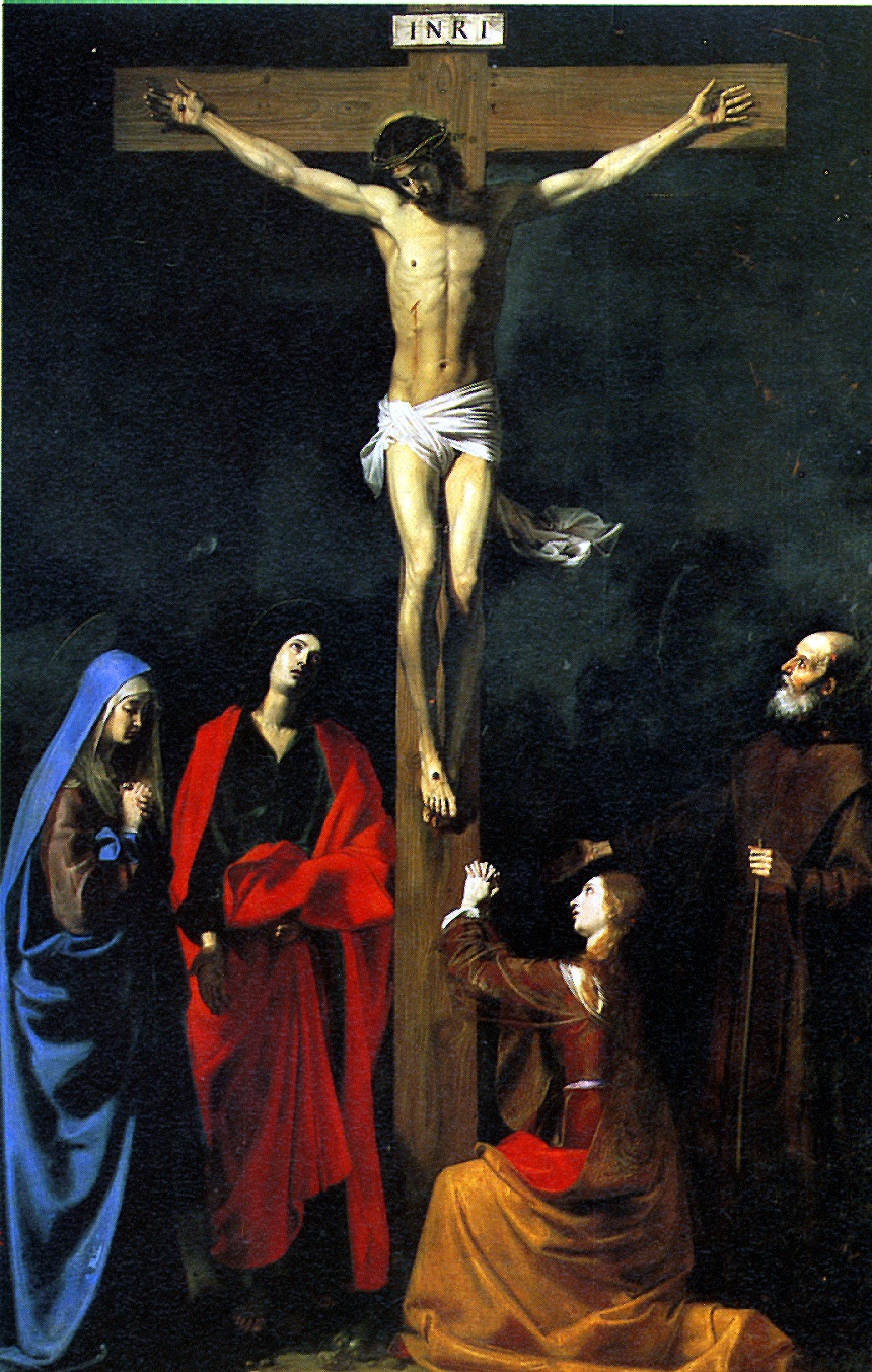 Nicola Turnier. The crucifixion with St. Vincent