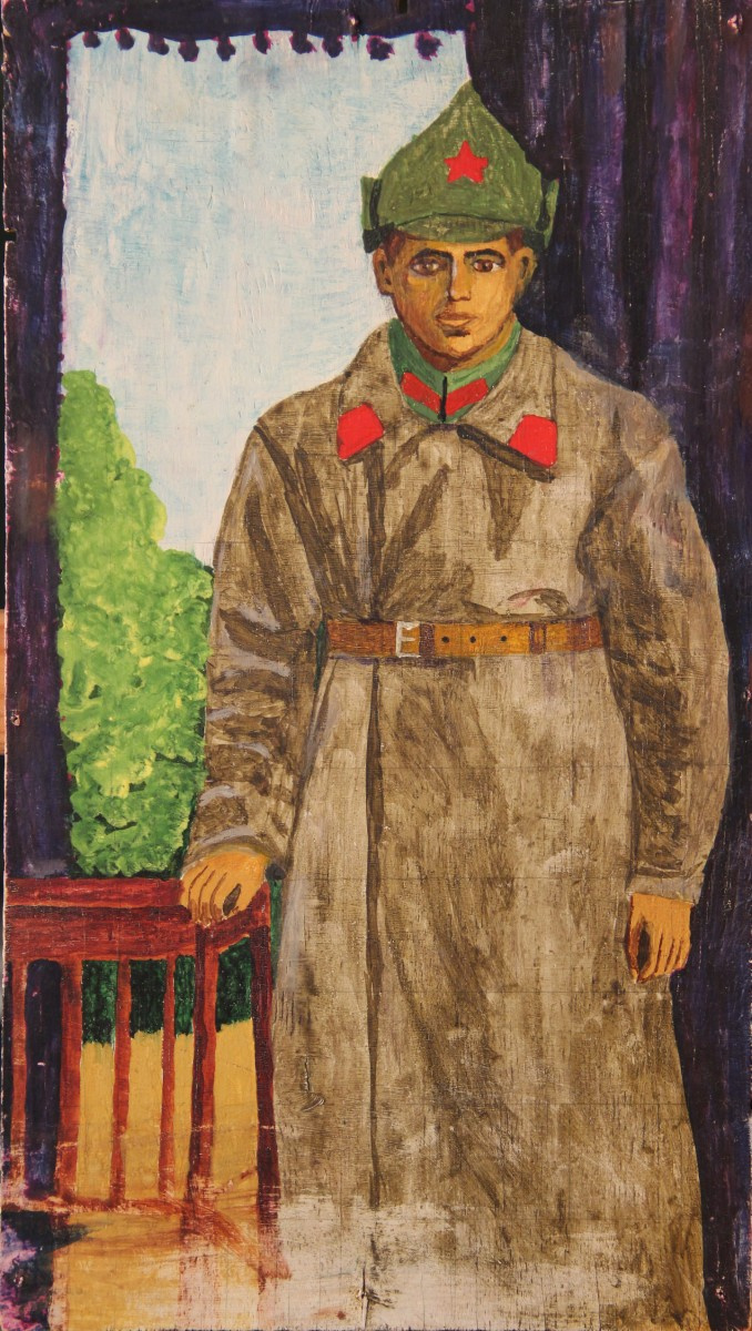 Ivan Semenovich Sarychev. Self portrait from a photograph on active duty