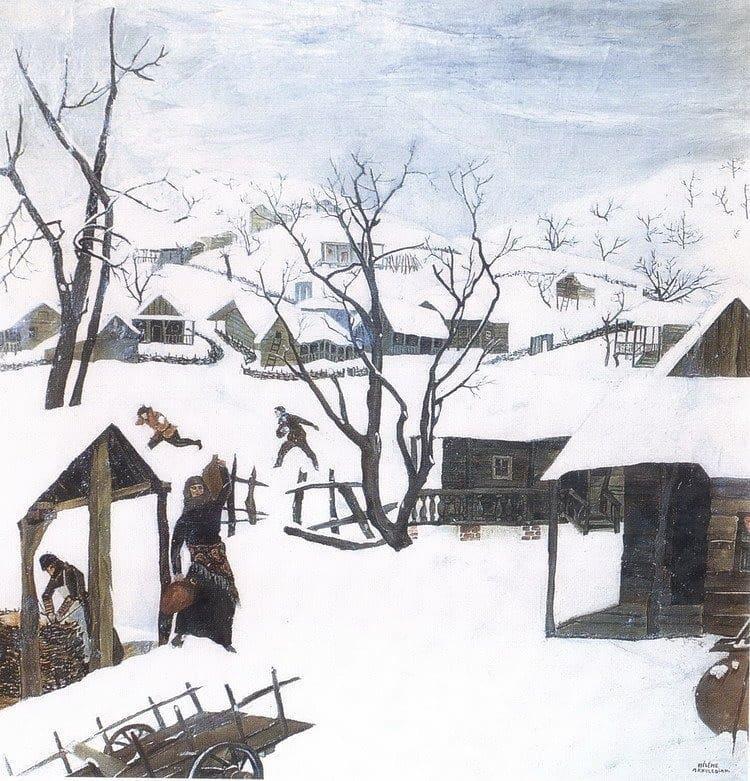 Elena Dmitrievna Akhvlediani. Winter in Kakheti