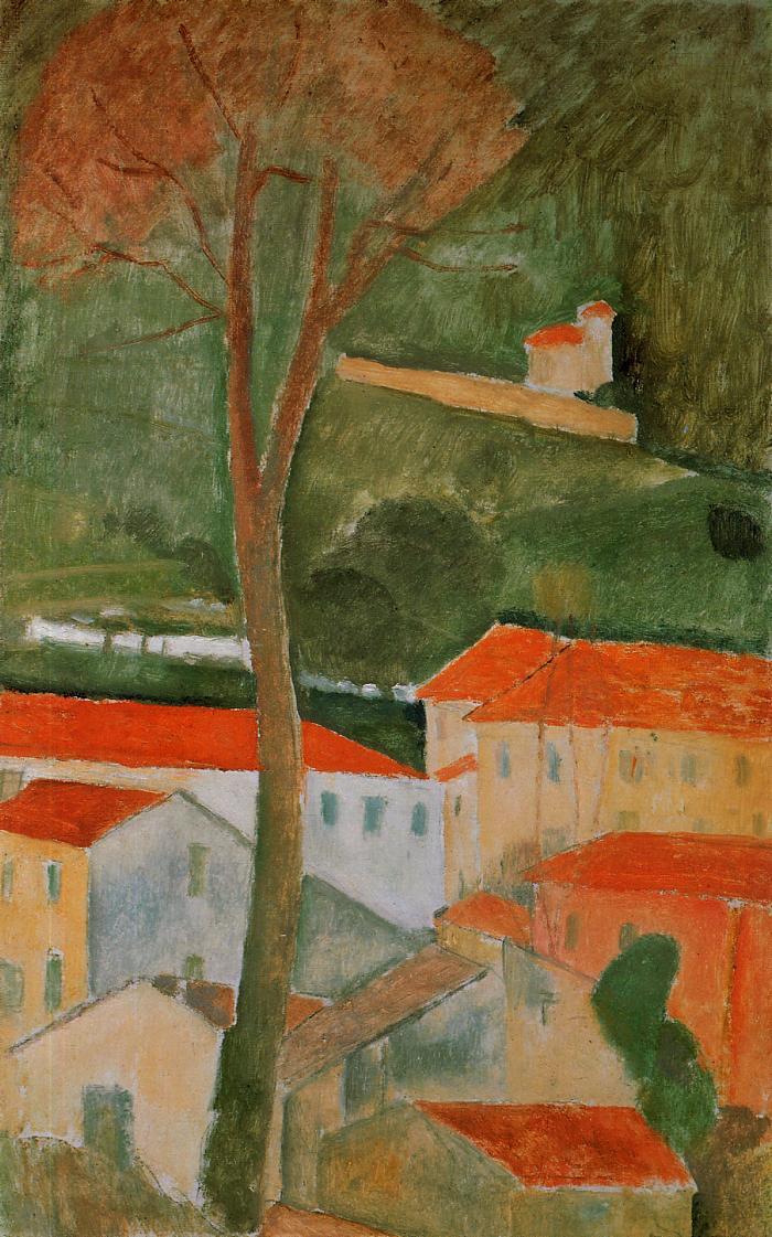 Amedeo Modigliani. Landscape in Kanye