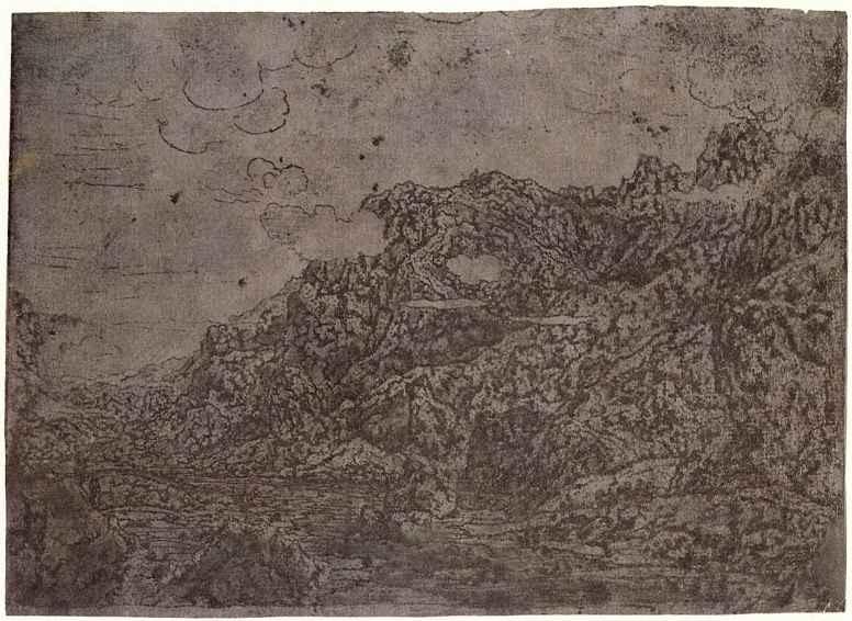 Херкюлес Питерс Сегерс. Горная долина с низко плывущими облаками