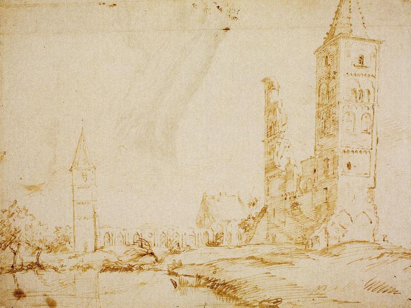 Ян Ливенс. Руины аббатской церкви в Эгмонде