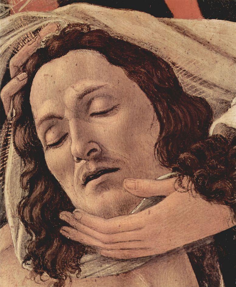 Сандро Боттичелли. Оплакивание Христа, деталь